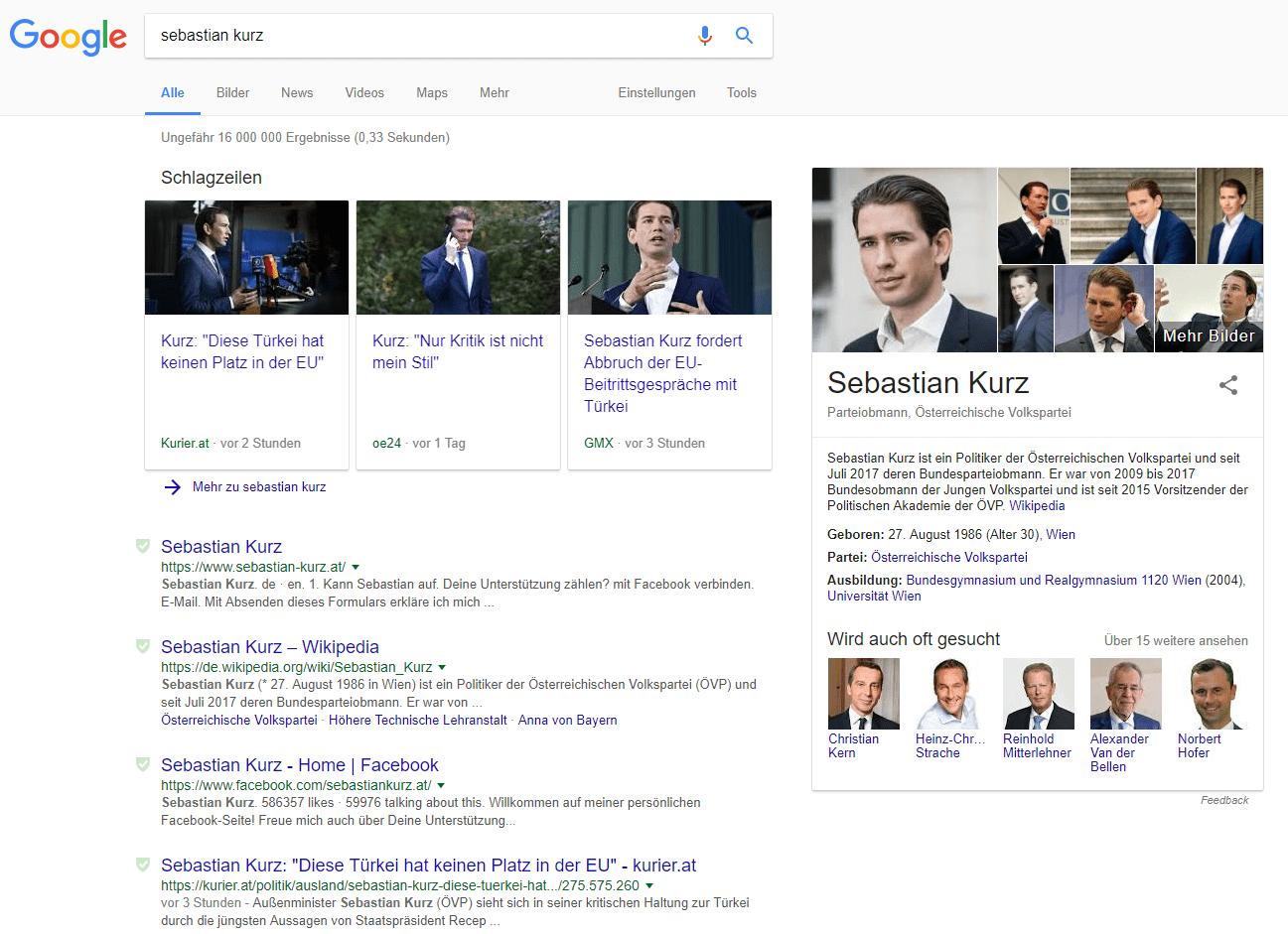 Google Featured Snippets - Beispiel