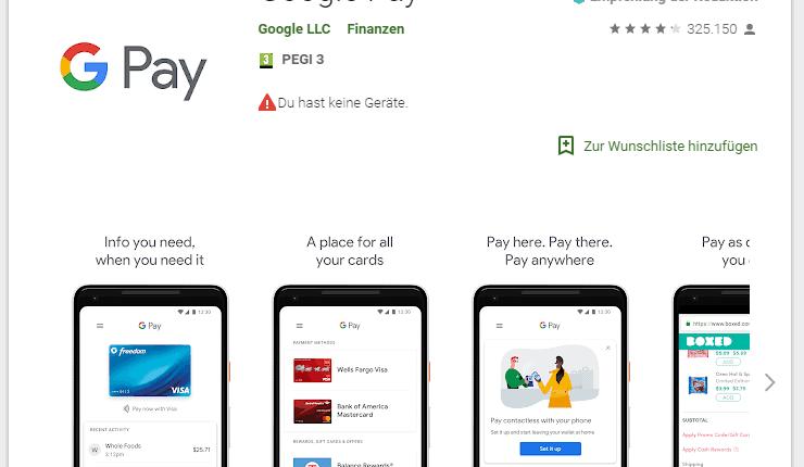 Google Pay, Google Pay in Deutschland gestartet