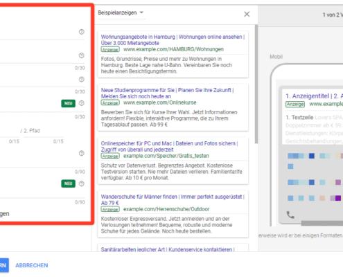 Erweiterte Textanzeigen, Erweiterte Textanzeigen – Google Ads