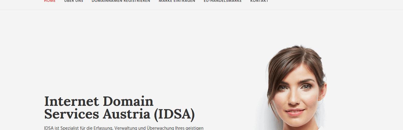 IDSA, Aufforderung zum Domainkauf