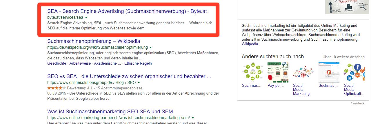 """Google Suche, Operator """"OR"""""""