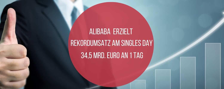 Alibaba Singles Day, Alibaba: Singles Day mit Umsatz-Rekord
