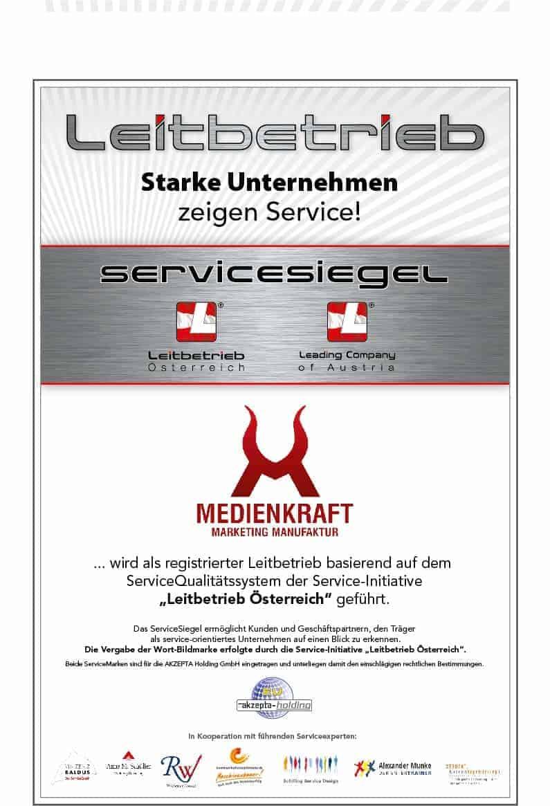 Leitbetrieb, Zertifizierter Leitbetrieb für Österreich und Deutschland