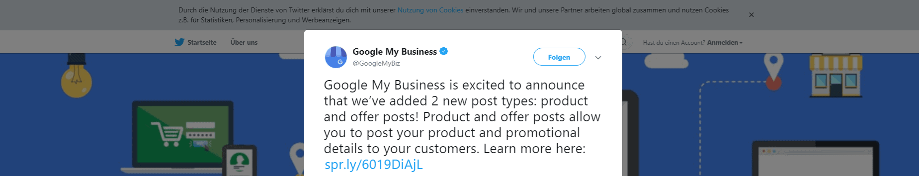 Google My Business Produkte, Google My Business Produkte