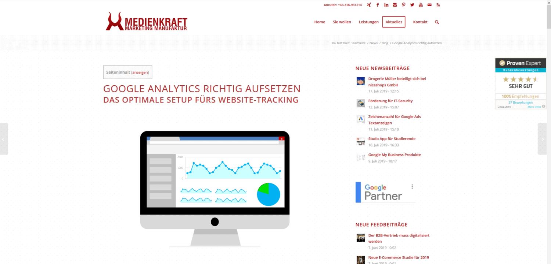 SEO Showcase Google Analytics