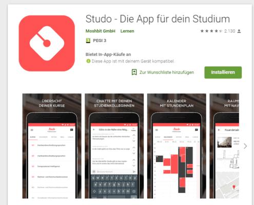 Studo App, Studo App für Studierende