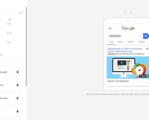 galerie-anzeigen, Google Ads Galerie-Anzeigen