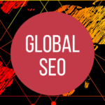 Herobild Global SEO - international SEO. Hintergrund Weltkarte