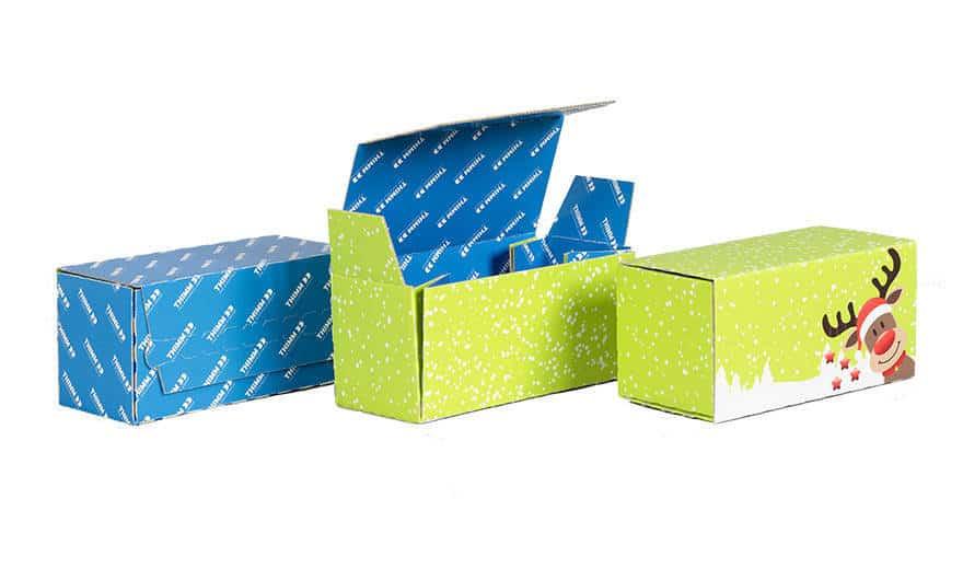 Verpackung zu Weihnachten - nachhaltige Versandverpackung von Thimm